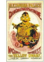 Post card Yellow Dwarf Pantomime